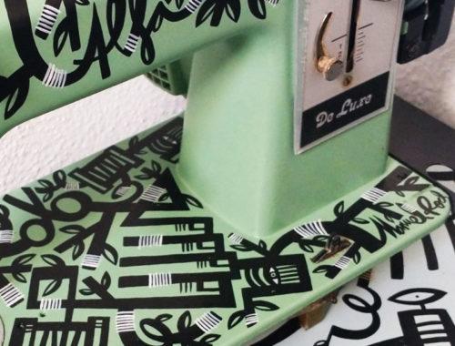 maquina de coser personalizada